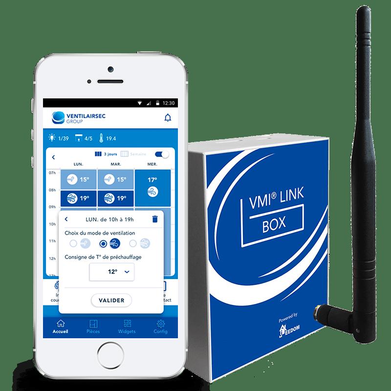 Accessoire VMI® - VMI LInk Box compatible avec la VMI Purevent.
