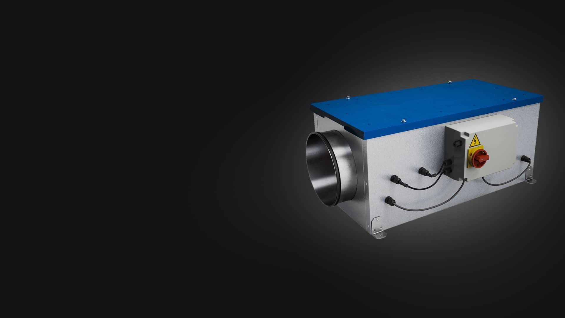 VMI Pro 1000. Technologie de purification de l'air intérieur pour ERP via une ventilation mécanique controlée par insufflation.